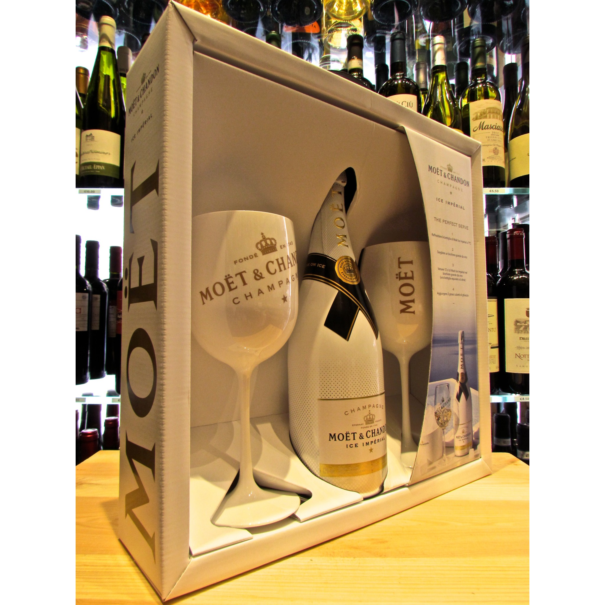 Online Sales Gift Box Glasses Champagne Mo 235 T Amp Chandon Ice