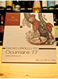 (6 BARS X 25g) Domori - Ocumare 77 - Dark Chocolate 70% - Cocoa Criollo
