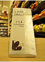 (6 BARS X 50g) Claudio Corallo - Dark Chocolate 75%