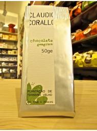 (3 BARS X 50g) Claudio Corallo - Dark Chocolate 70% with ginger - 50g