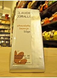 (6 TAVOLETTE X 50g) Claudio Corallo - Cioccolato Fondente 70% con Arancia Candita