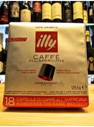 Illy Rosso - Caffè all' Americana - 18 Capsule - Tostatura Media - NOVITA'