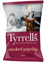 Tyrrels - Paprika Seasoned Potato Crisps -150g