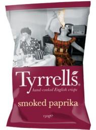 (6 PACKS X 150g) Tyrrels - Paprika Seasoned Potato Crisps