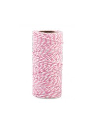 Cupido & Company - Two-Tone Ribbon Pink and White - 100mt