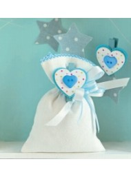Cupido & Company - 12 Light Blue Heart Clothespins