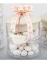 Cupido & Company - 5 Tazzine Bianche in Porcellana