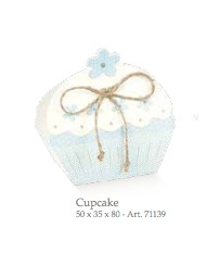 Cupido & Company - 10 CupCake Boxes Light Blue With Ribbon