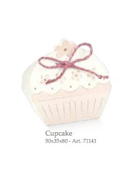 Cupido & Company - 10 CupCake Boxes Pink With Ribbon