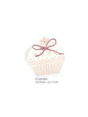 Cupido & Company - 10 CupCake Boxes Pink With Ribbon