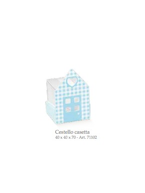 Cupido & Company - 5 Light Blue House Cardboard