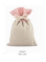 Cupido & Company - 6 Jute Bags with Pink Board