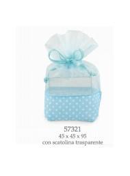 Cupido & Company - 6 Sacchettini Azzurri con Astuccio