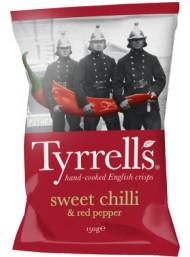 (3 PACKS X 150g) Tyrrels - Sweet Chilli & Red Pepper Potato Crisps