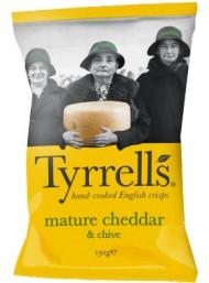 Tyrrels - Cheddar & Chives Potato Crisps -150g