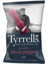 Tyrrels - Black Pepper Potato Crisps -150g