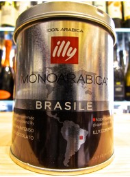 (6 CONFEZIONI X 125g) ILLY - MONOARABICA BRASILE - CAFFE' MOKA MACINATO