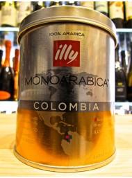 (3 CONFEZIONI X 125g) ILLY - MONOARABICA COLOMBIA - CAFFE' MOKA MACINATO