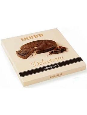 Babbi - Dolcetorta Dark Chocolate - Wafers Cake Covered with Dark Chocolate - 330g