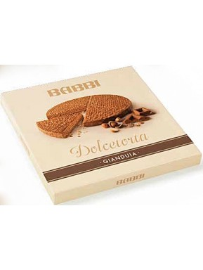 Babbi - Dolcetorta Gianduja - Wafers Cake Covered with Milk Chocolate - 330g