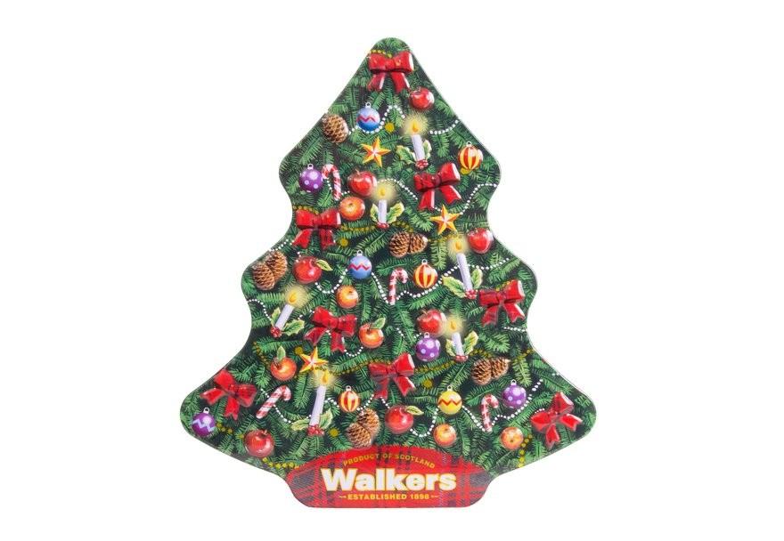 Albero Di Natale Vendita Online.Vendita Online Walkers A Forma Di Albero Di Natale Biscotti Scozzesi Al Burro In Confezioni Regalo Christmas Tree