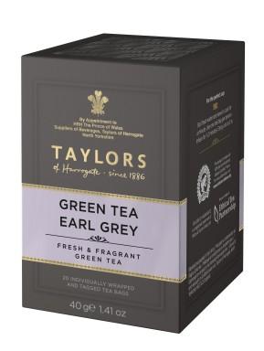 Taylor of Harrogate - Earl Grey Green Tea - 20 Sachets