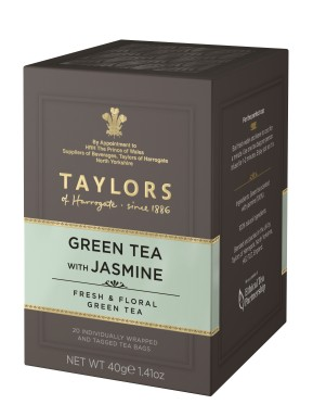 Taylor of Harrogate - Green Tea With Jasmine - 20 Sachets