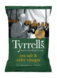 (6 PACKS X 150g) Tyrrels - Cider Vinegar Potato Crisps