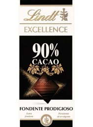 (6 BARS X 100g) Lindt - Excellence - 90%