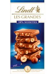 Lindt - Les Grandes - Cioccolato al Latte con Nocciole Intere - 150g