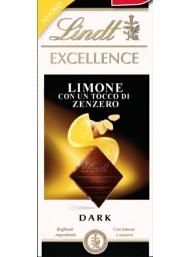 (3 TAVOLETTE X 100g) Lindt - Excellence - Limone e Zenzero