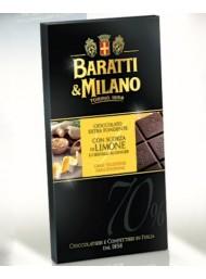 Baratti & Milano - Dark Chocolate with Lemon and Ginger - 75g
