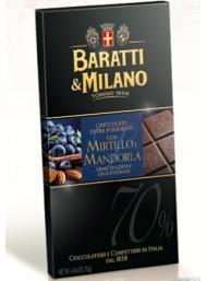 Baratti & Milano - Dark Chocolate with Blueberry and Almonds - 75g