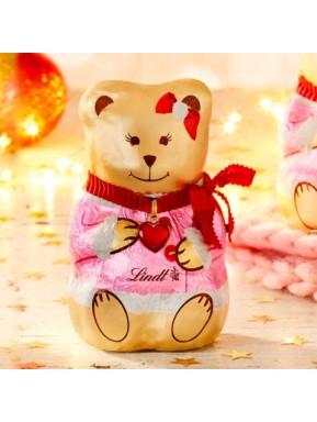 (5 TEDDY BEARS X 100g) Lindt - Female Teddy Bears Chocolate Milk