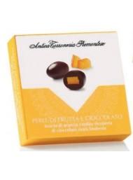 Antica Torroneria - Scorza di Arancia candita ricoperte di cioccolato fondente - 75g
