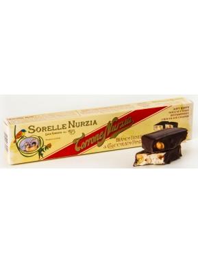 Sorelle Nurzia - Torrone Tenero con Nocciole Ricoperto al Cioccolato 200g