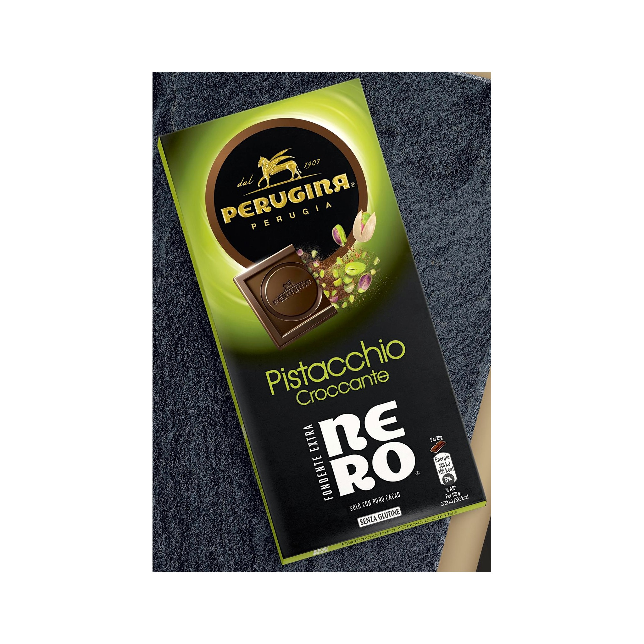 Online Sale Bars Italian Dark Chocolate Perugina Pistachio
