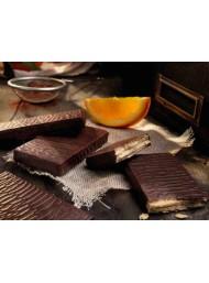 (12 PEZZI) Babbi - il Waferone - Ricetta di Attilio - Wafers con crema all'arancio ricoperto di cioccolato - 30g