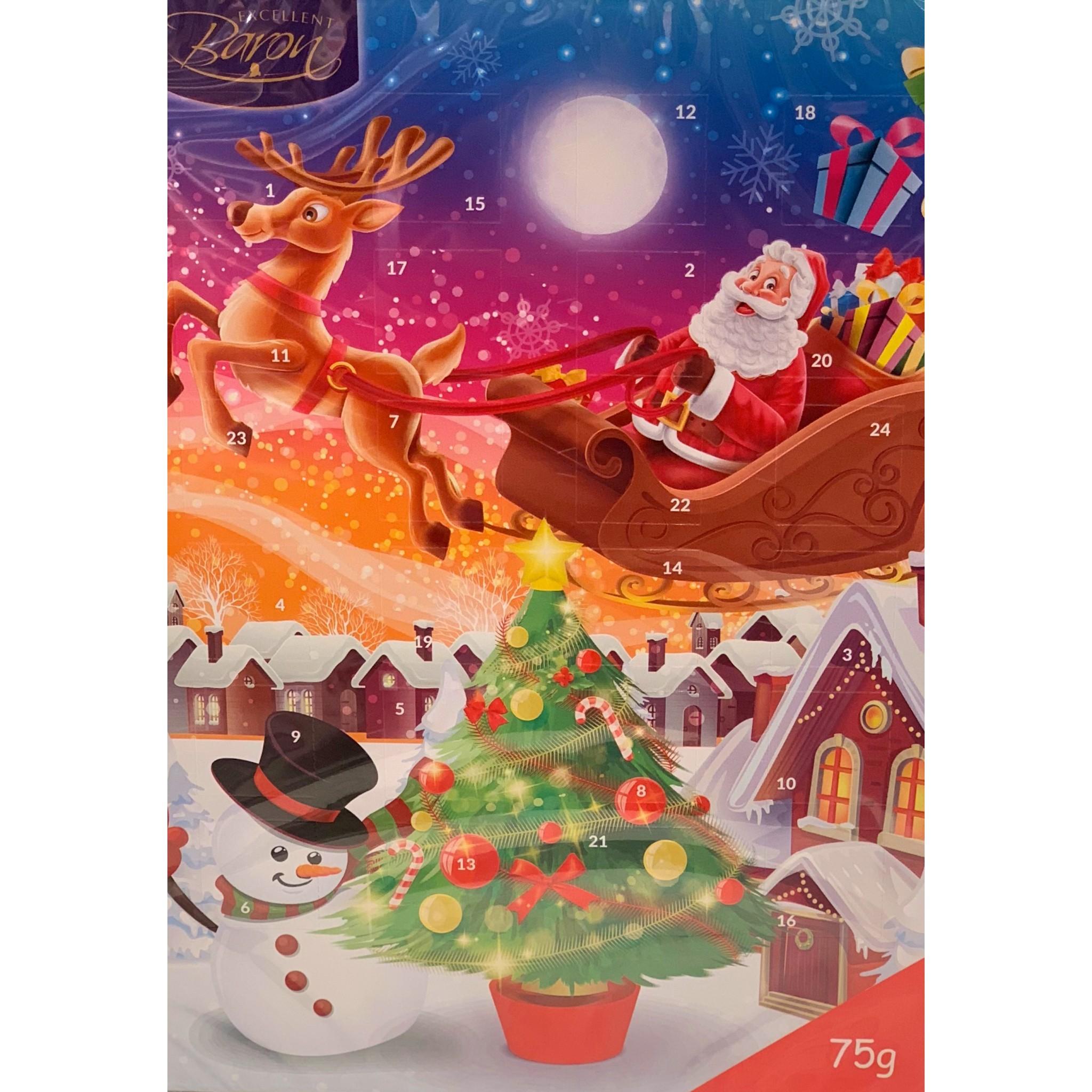 Calendario Avvento Cioccolato.Vendita Online Calendario D Avvento Con Cioccolatini Al