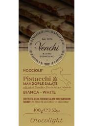 Venchi - Chocolight - Bianco con Pistacchi, Nocciole, Mandorle, Salati - 100g