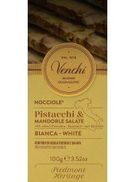 Venchi - White Chocolate with Puistachio and Hazelnuts - 100g