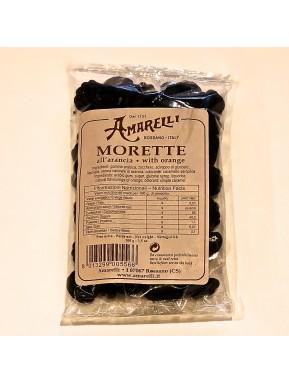 (5 PACKS X 100g) Liquirice Amarelli - Morette with orange