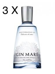 (3 BOTTLES) Gin Mare - Mediterranean Gin - Colecciòn de Autor - 70cl.