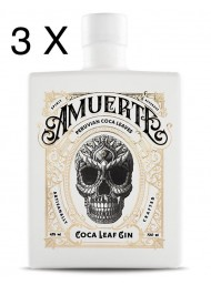 (3 BOTTLES) Amuerte - Peruvian Coca Leaf Gin - White Edition - 70cl