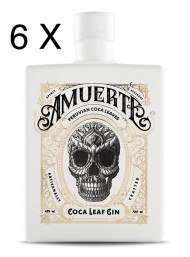 (6 BOTTLES) Amuerte - Peruvian Coca Leaf Gin - White Edition - 70cl