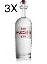 (3 BOTTLES) Poli - Gin Marconi 46 - 70cl