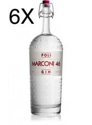 (6 BOTTLES) Poli - Gin Marconi 46 - 70cl