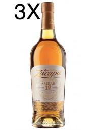 (3 BOTTLES) Zacapa - Ambar - 12 Anni - 1 Litro - 100cl