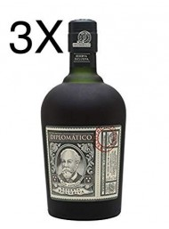 (3 BOTTLES) Diplomatico - Reserva Exlusiva - Ron Antiguo Venezuelano - 12 years - 70cl