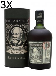 (3 BOTTLES) Diplomatico - Reserva Exlusiva - Ron Antiguo Venezuelano - 12 years - 70cl - Gift Box